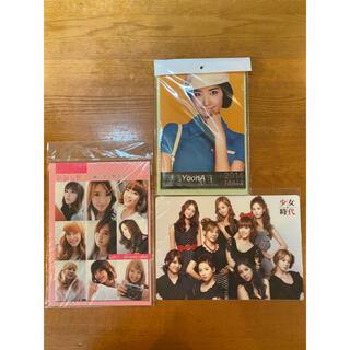 ショウジョジダイ(少女時代)の少女時代 下敷き、韓国語テキスト、カレンダー(K-POP/アジア)