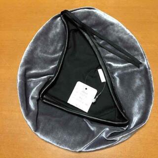 新品未使用 レディース ベロアベレー(ハンチング/ベレー帽)