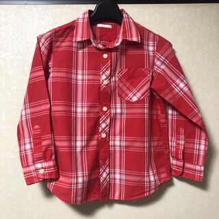 ジーユー(GU)のチェックシャツ 120 男児 女児 シャツ 長袖シャツ(Tシャツ/カットソー)