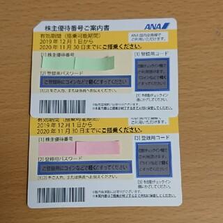 エーエヌエー(ゼンニッポンクウユ)(ANA(全日本空輸))のana 株主優待券 2枚(その他)