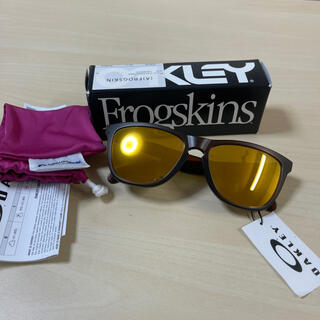 Oakley - 新品 オークリー フロッグスキン サングラス ブラウン Oakley