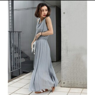 Ameri VINTAGE - SHIRRING CHIFFON DRESS