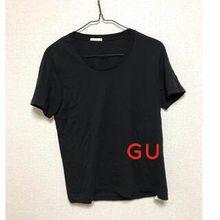 ジーユー(GU)の半袖Tシャツ カットソー ジーユー ブラック 黒(Tシャツ(半袖/袖なし))