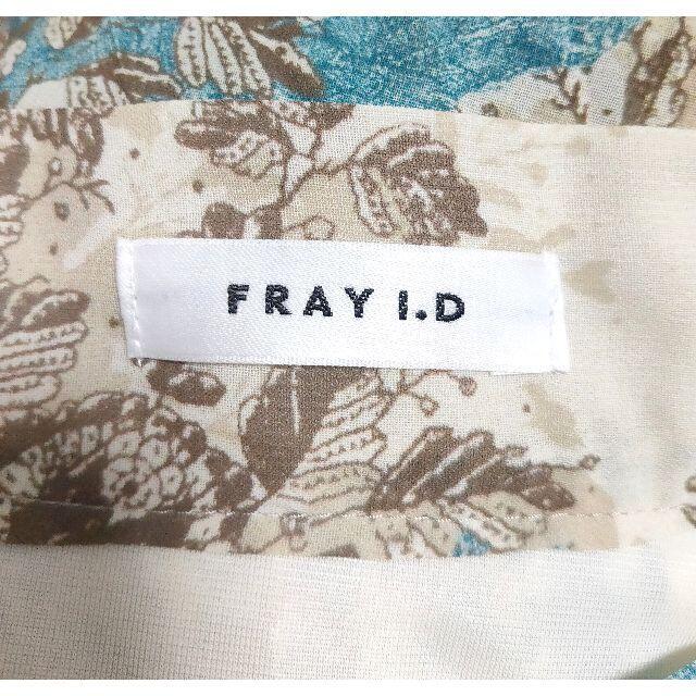 FRAY I.D(フレイアイディー)のFRAY I.D フラワープリントアシメプリーツスカート 20AW 今季 レディースのスカート(ロングスカート)の商品写真