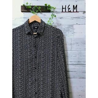 エイチアンドエム(H&M)の【美品】H&M  星柄  スター  総柄  長袖  シャツ(シャツ)