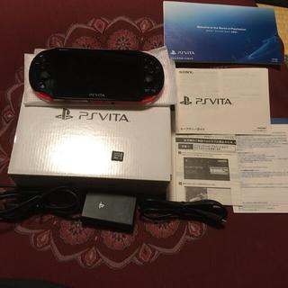 PlayStation Vita - PS Vita PCH-2000 ZX18 レッド/ブラック 16GBカード付