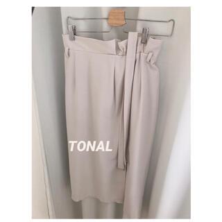 TONAL ウェストギャザーロングタイトスカート
