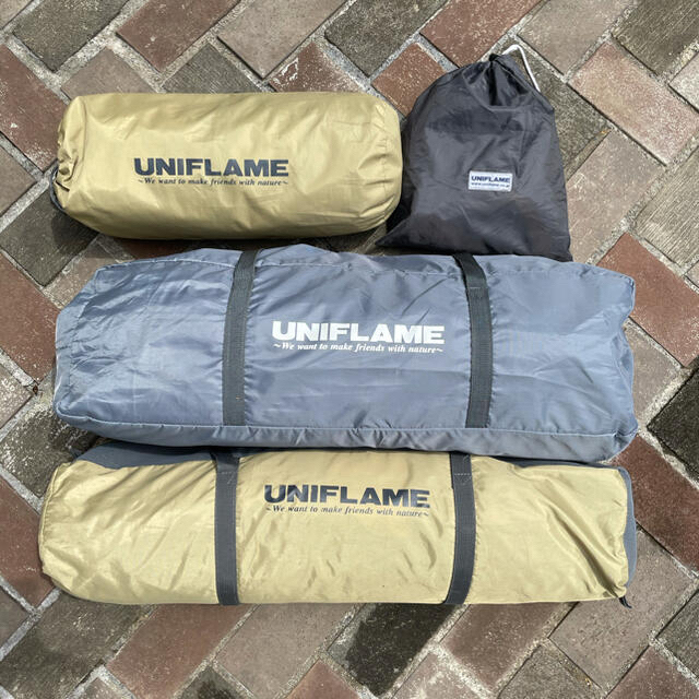 UNIFLAME(ユニフレーム)のUNIFLAME REVOシリーズ フルセット タープLサイズ スポーツ/アウトドアのアウトドア(テント/タープ)の商品写真