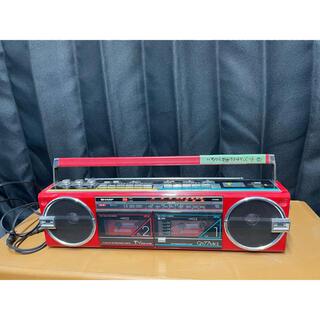 シャープ(SHARP)のSHARP QT77MKⅱ ラジカセカセットテープ 80年代80s 赤(ラジオ)
