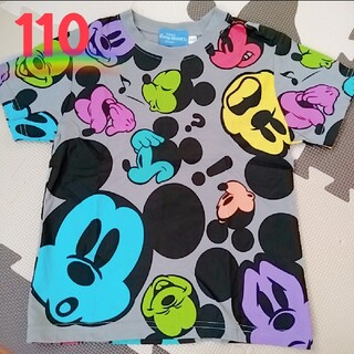 Disney - *オリエンタルランド*ミッキー 総柄 グレー 半袖Tシャツ*110センチ*