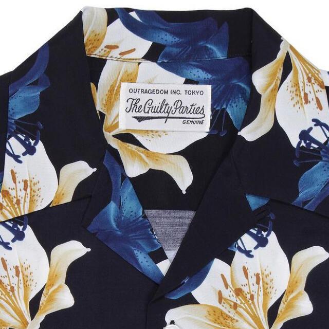 ワコマリア アロハシャツ 百合柄 L メンズのトップス(シャツ)の商品写真