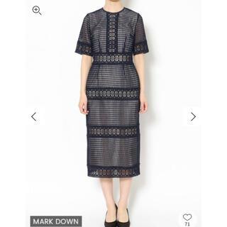 LagunaMoon - 新品タグ付き LADYブロッキングレースドレス