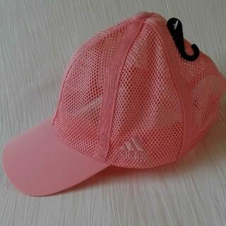 アディダス(adidas)のアディダスキャップ 帽子 ピンク メッシュ(キャップ)
