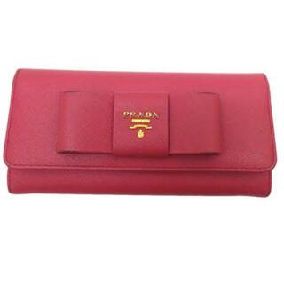 プラダ(PRADA)のPRADA  サフィアーノ リボン付長財布(長財布)