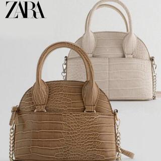 ZARA - ZARA 型押し チェーンショルダーバッグ