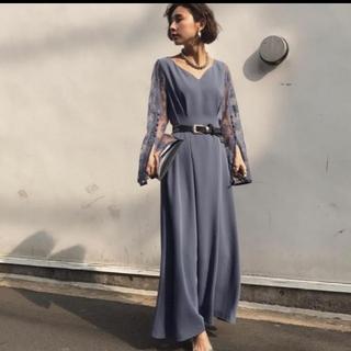 Ameri VINTAGE - LACE SLEEVE REFINED DRESS