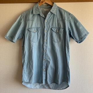ジーユー(GU)のGU 半袖デニム生地風シャツ(シャツ)