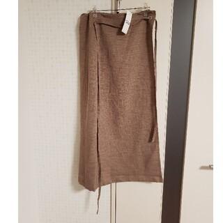 GU - 完売品 タグ付き GU ラップナロースカート XL ブラウン