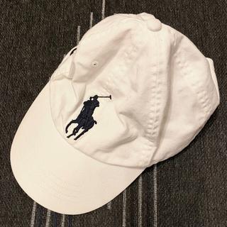 POLO RALPH LAUREN - 【美品】POLO キャップ 帽子 ホワイト 白