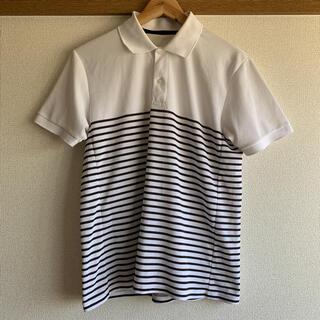 ジーユー(GU)のGU ストライプポロシャツ(ポロシャツ)
