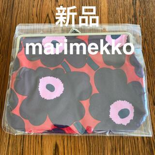 マリメッコ(marimekko)の新品 未使用 マリメッコ marimekko がま口 ポーチ ウニッコ 花柄(ポーチ)