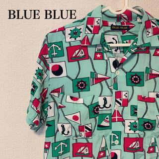 ブルーブルー(BLUE BLUE)のBLUE BLUE ブルーブルー 国旗柄 柄シャツ シャツ ヨット柄(シャツ)