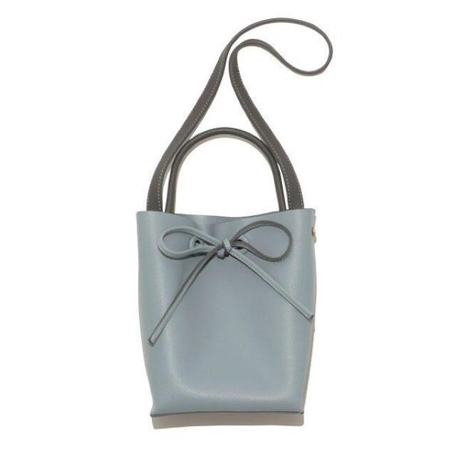 FRAY I.D(フレイアイディー)の【新品】メタルハンドルバッグ ブルー レディースのバッグ(ハンドバッグ)の商品写真
