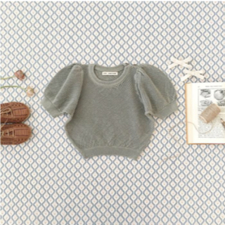 キャラメルベビー&チャイルド(Caramel baby&child )のソーアプルーム soor  ploom ミニ ニット 半袖ポワン(ニット)