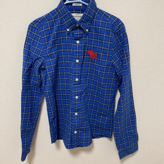 アバクロンビーアンドフィッチ(Abercrombie&Fitch)のアバクロンビー 長袖シャツ 約160cm  チェックシャツ(ブラウス)