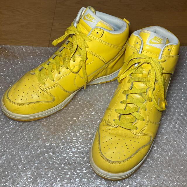 NIKE(ナイキ)のNIKE DUNK HI yellow×white 28.0cm メンズの靴/シューズ(スニーカー)の商品写真