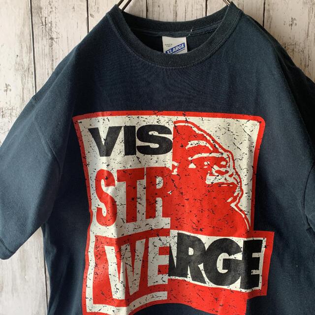 XLARGE(エクストララージ)の【エクストララージ×ビジョン】古着 メンズ トップス Tシャツ デカロゴ コラボ メンズのトップス(Tシャツ/カットソー(半袖/袖なし))の商品写真