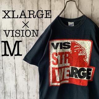 XLARGE - 【エクストララージ×ビジョン】古着 メンズ トップス Tシャツ デカロゴ コラボ