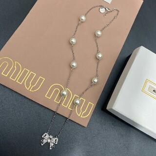 miumiu - 美品Miumiuミュウミュウ ネックレス  レディース