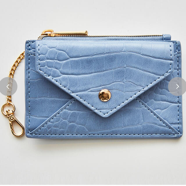 しまむら(シマムラ)のしまむら 星玲奈 カードケース サックス レディースのファッション小物(財布)の商品写真