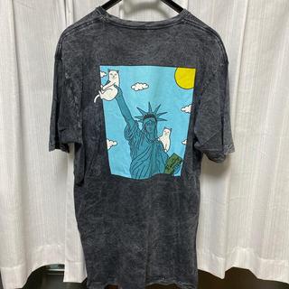 RIPNDIP Liberty black Mineral Wash Tシャツ