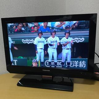 東芝 - TOSHIBAテレビ 19A2 (リモコン・カード・一部説明書付き)