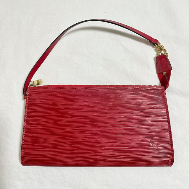 LOUIS VUITTON(ルイヴィトン)のルイヴィトン アクセサリーポーチ エピ アクセソワール ポシェット 赤 レッド レディースのバッグ(ハンドバッグ)の商品写真