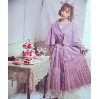 アクシーズファム(axes femme)の今季人気完売色チュールトレンチコート 淡ピンク(トレンチコート)