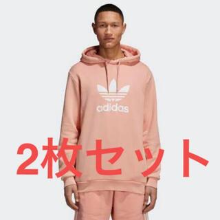 アディダス(adidas)のペアルック 2枚 ADIDAS HERI TREFOIL HOODIE ピンク(パーカー)