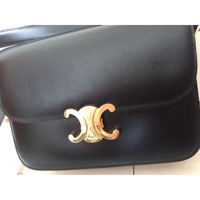 celine(セリーヌ)のCELINE トリオンフ  ミディアム / シャイニーカーフスキン レディースのバッグ(ショルダーバッグ)の商品写真