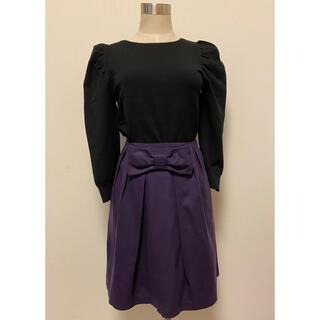 エフデ(ef-de)のエフデ ef-de【美品】2wayリボン付きスカート 7 紫(ミニスカート)