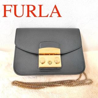 Furla - フルラ メトロポリス チェーン ショルダーバッグ ブラック