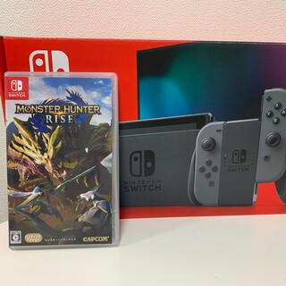 Nintendo Switch - Nintendo Switch グレー+モンハンライズセット
