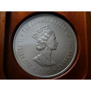 バハマ 西暦2000年 50ドル フロスト銀貨 純銀 2kg 1996年 (貨幣)