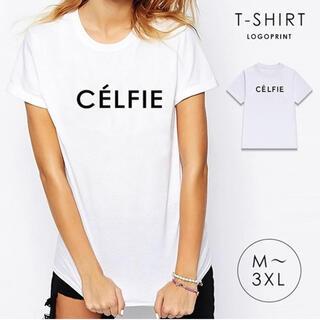 Tシャツ 白 ホワイト 半袖 ロゴTシャツ シンプル ロゴ レディース 新品(Tシャツ(半袖/袖なし))
