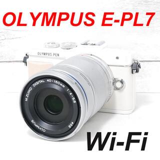 オリンパス(OLYMPUS)の❤️バッテリー2個付き❤️Wi-Fi搭載❤️OLYMPUS E-PL7(ミラーレス一眼)