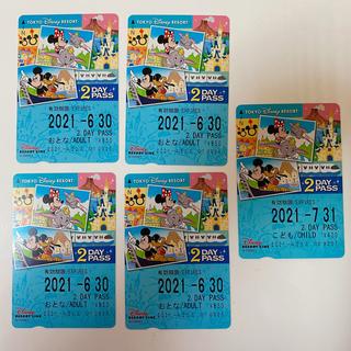 ディズニー(Disney)のディズニーリゾートライン大人4枚子供1枚2dayフリー切符 (遊園地/テーマパーク)