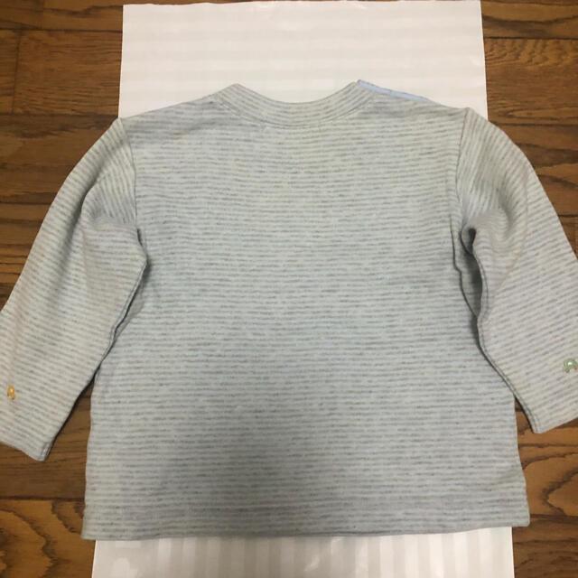 familiar(ファミリア)のファミリア 80センチ 長袖ボーダーTシャツ キッズ/ベビー/マタニティのベビー服(~85cm)(Tシャツ)の商品写真
