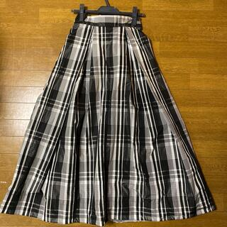 FRAY I.D - FRAY I.D リボンタフタ チェックロングスカート