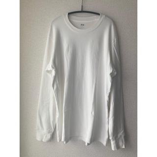 ユニクロ(UNIQLO)のユニクロUNIQLOソフトタッチクルーネックTホワイトL(Tシャツ/カットソー(七分/長袖))